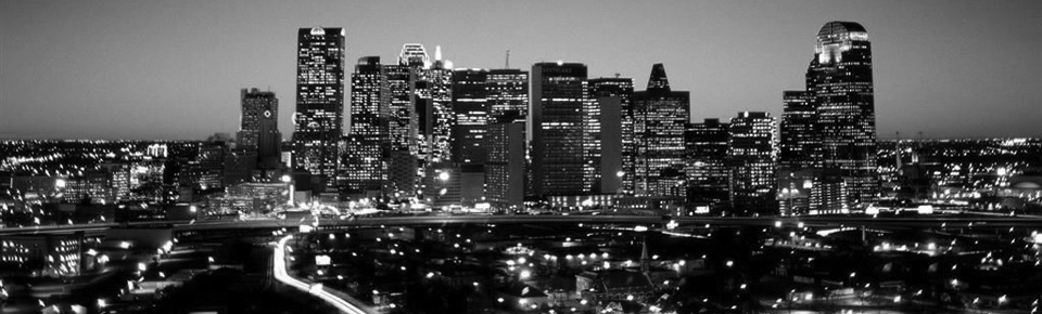 Dallas Nightscape - BW